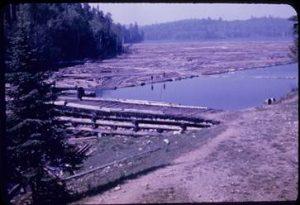 Log Boom - Victoria Lake 1941